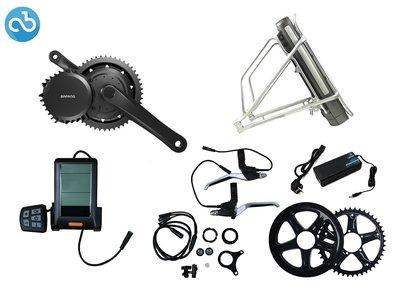 Ombouwset Middenmotor Bafang BBS01 36V (612Wh) Bagagerek